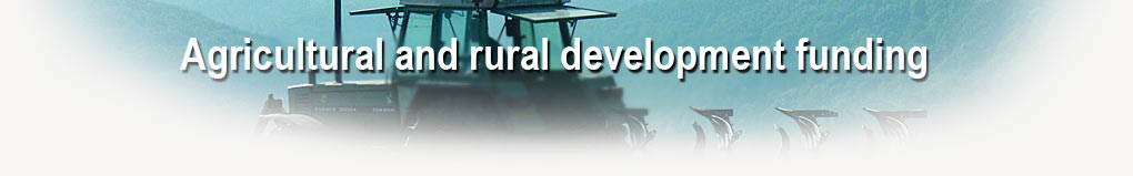 Agricultural and rural development funding